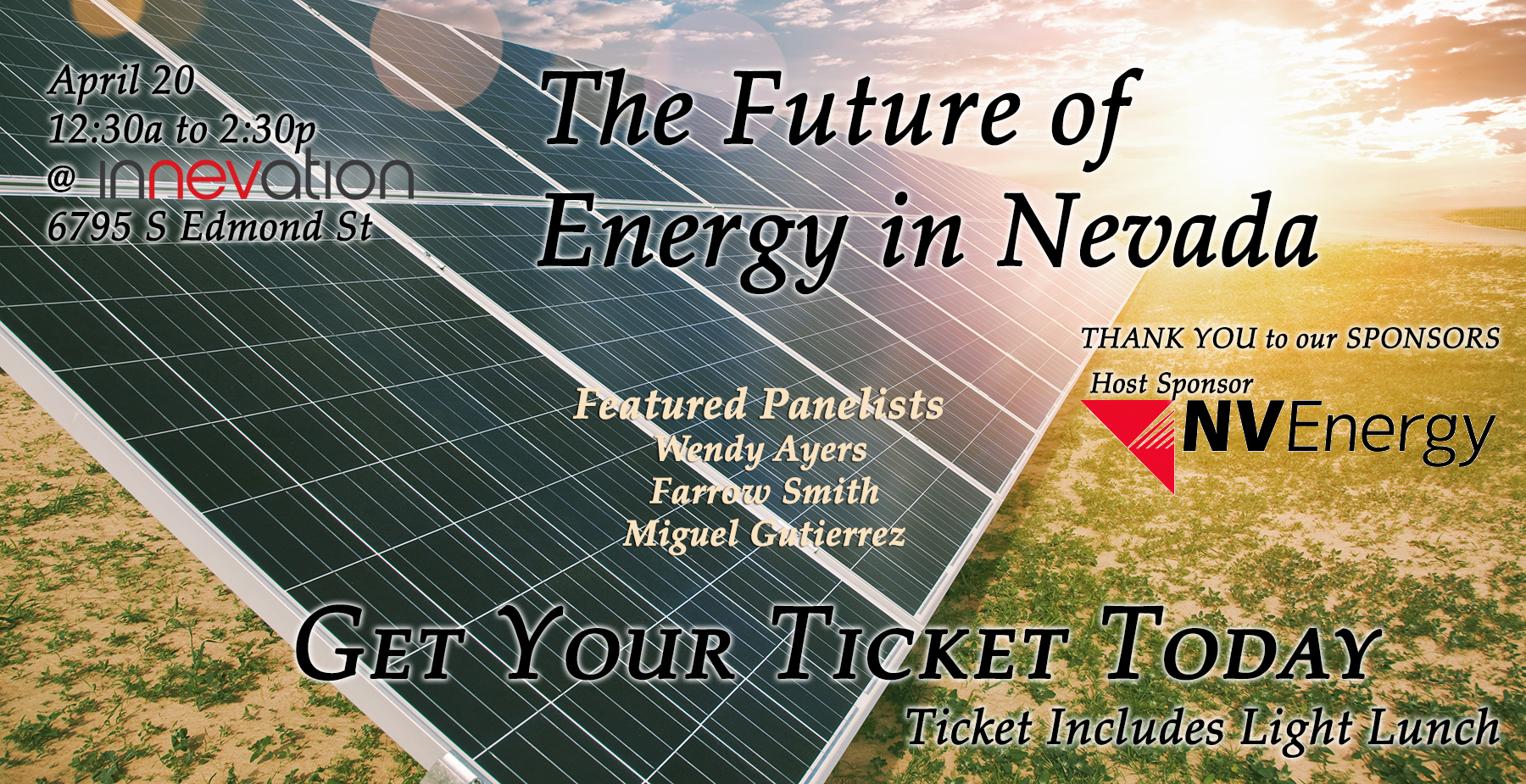 Future of Energy in Nevada - Event at Innevation powred by Switch